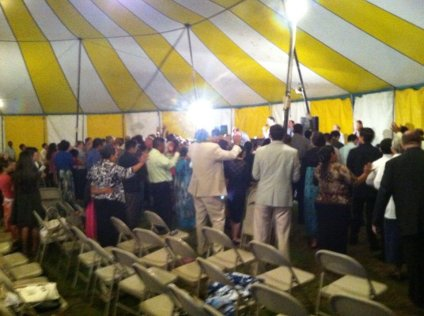 Tent meeting