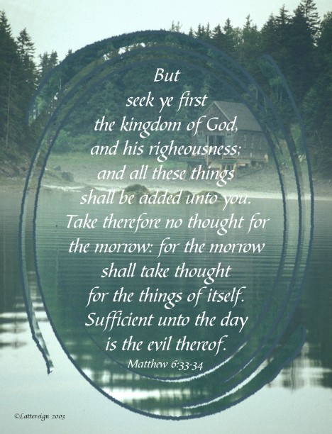 Matthew 6-33-34