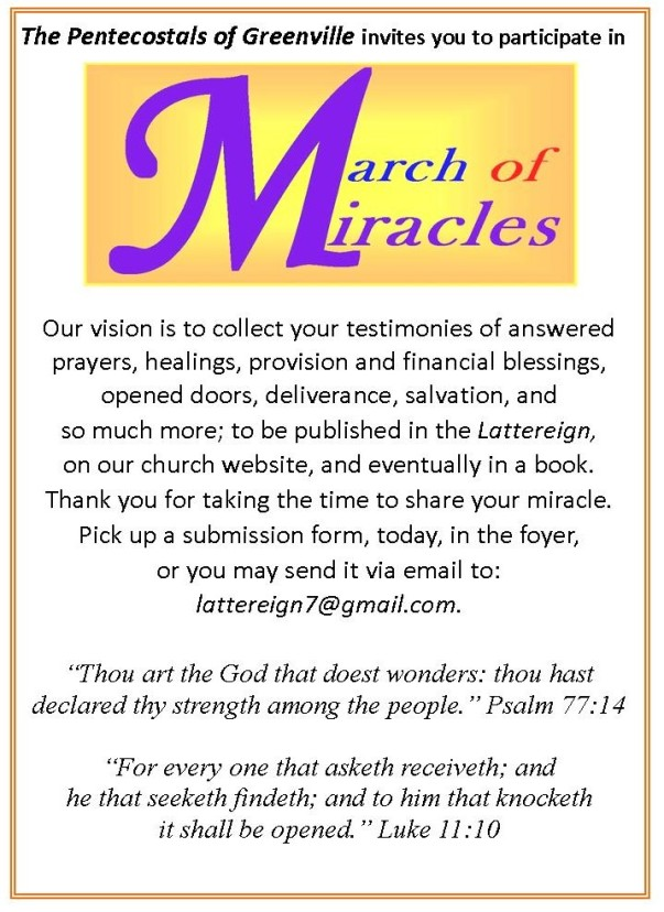 March of Miracles PSA