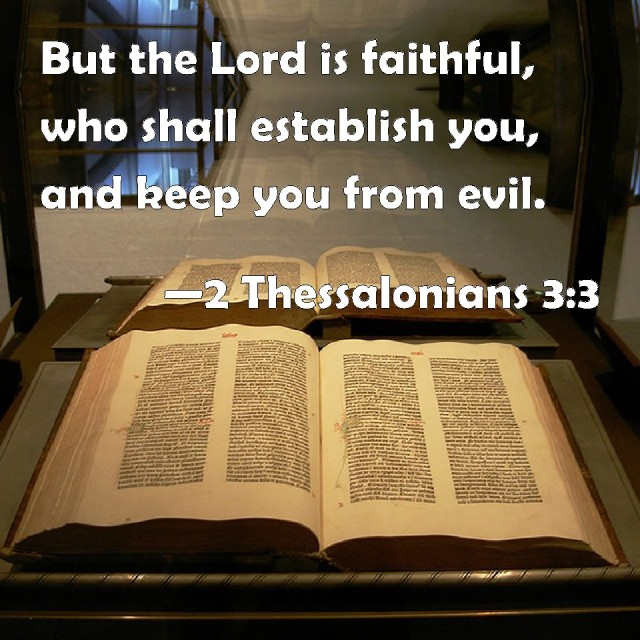 The Lord will establish you